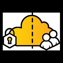 Hybrid Cloud Icon
