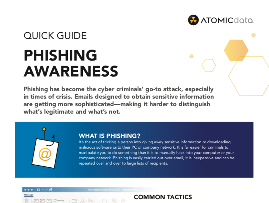 Atomic Data Quick Guide: Phishing Awareness