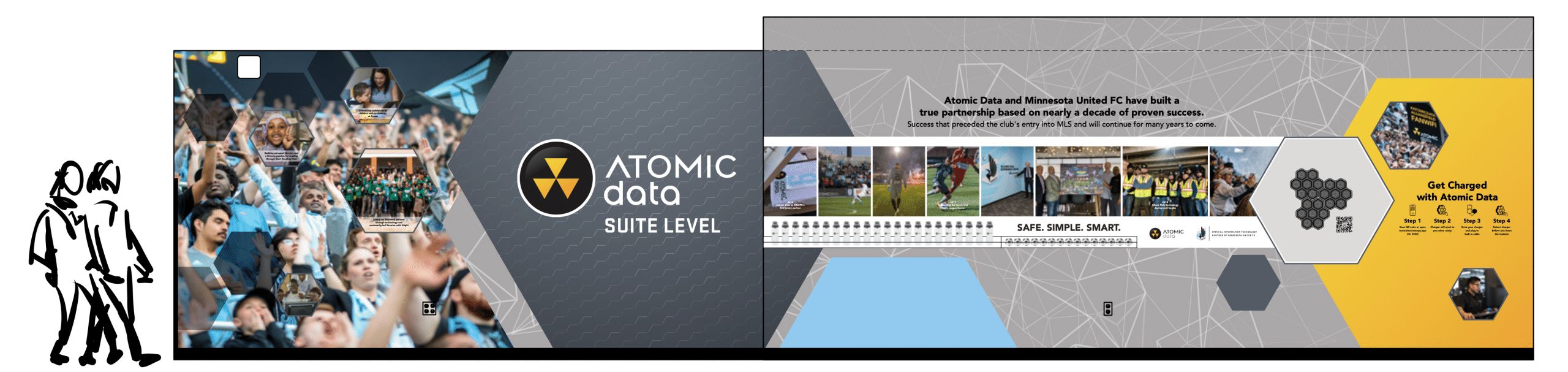 Mockup of Atomic Data Suite Level brand wall